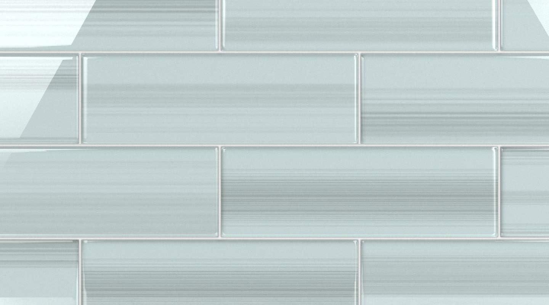 - Amazon.com: Vesper Light Blue Off White Glass Subway Tile For