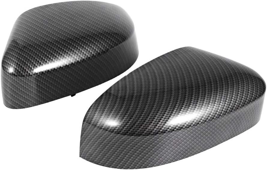 EBTOOLS Rear View Mirror Cap,Carbon Fiber Style Left and Right Rearview Mirror Covers Fits for Focus 2012-2018