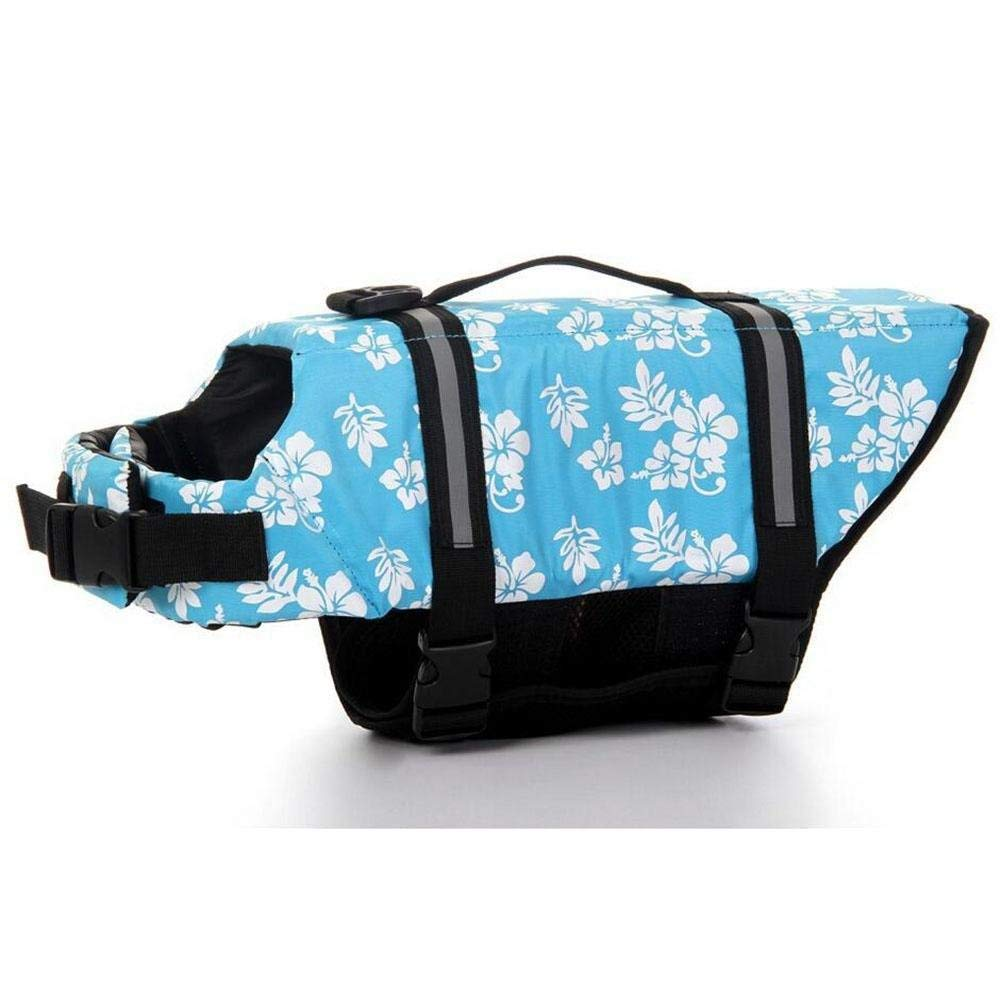 bluee XX-Large bluee XX-Large Gperw Pet Dog Life Jacket Oxford Breathable Mesh Summer Dog Swimwear Puppy Life Vest Safety Clothes For Dogs Sizes XXS-XXL Non Slip Cushion Pad (color   bluee, Size   XX-Large)