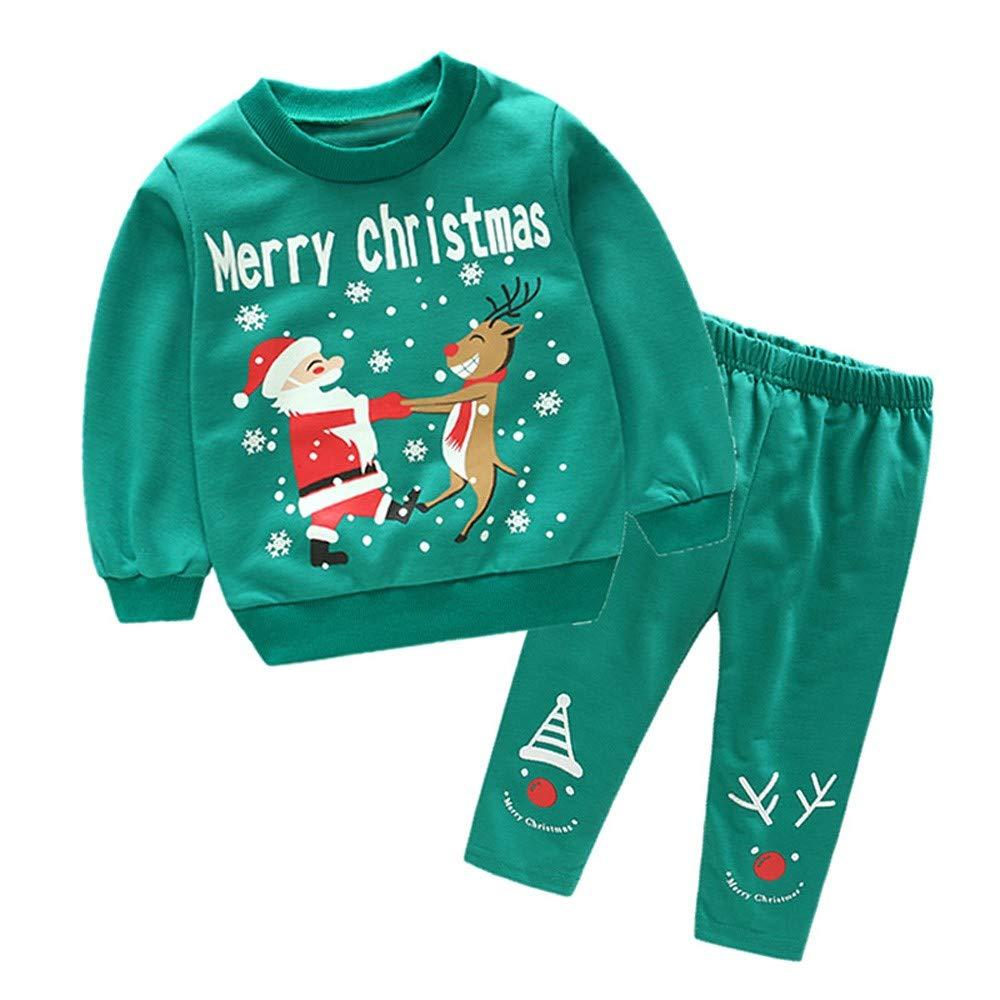 Oyedens Vêtements bébé Christmas Vêtements Pas Cher Bébé Fille Hiver Nouveau-né Tops de Noël bébé Ensemble Pantalon Enfant Top Party Clothes Set