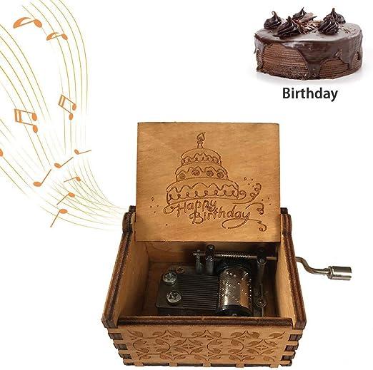 FOONEE Caja de música con manivela de Mano, Caja de música de ...