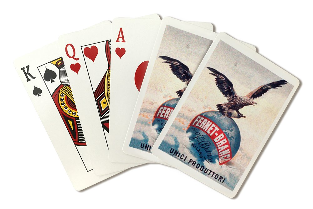 Italy - Fernet - Branca - Unici Produttori - Vintage Advertisement (Playing Card Deck - 52 Card Poker Size with Jokers)