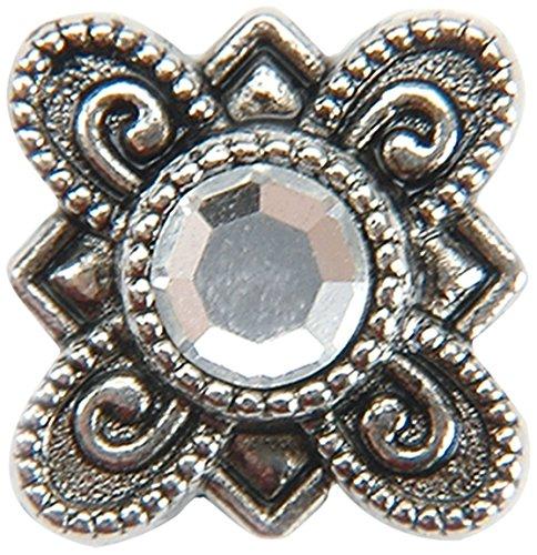 Darice 1981B-21 Metal Slider Beads with Swarovski Crystal, Flower Crystal, 10-Pack ()