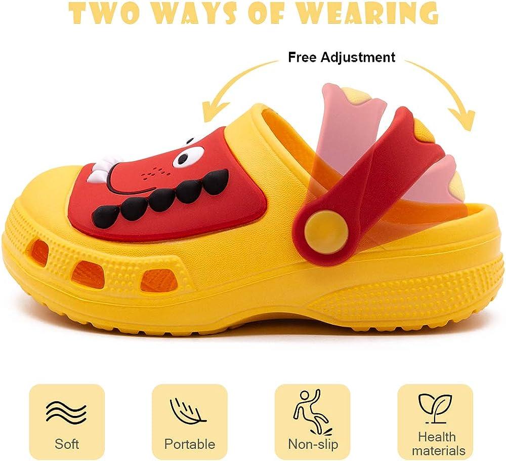 Cute Cartoon Lightweight Sandals Boys Girls Summer Slide Beach Water Shower Pool Slippers Toddler Little Kids Classic Clogs