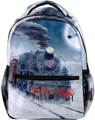 Christmas Motif Large Capacity Backpack Unisex Rucksack Fashion Durable Travel Bag for Camping, Shopping, Climbing