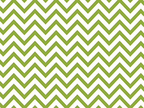 Apple Green Chevron Stripe 240~20''x30'' Sheets Recycled (240 Sheets) - WRAPS-P1344 by Miller Supply Inc