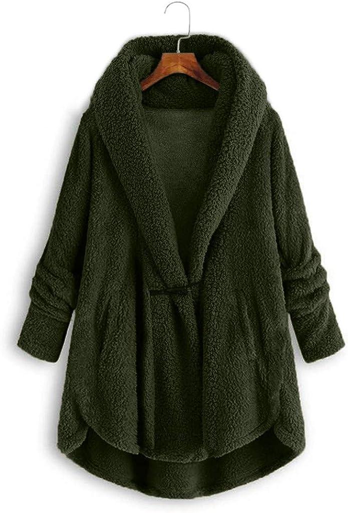 Women Hoodies Cardigan Coat Ladies Solid Long Sleeve Sweater Plus Size Plush Winter Outwear