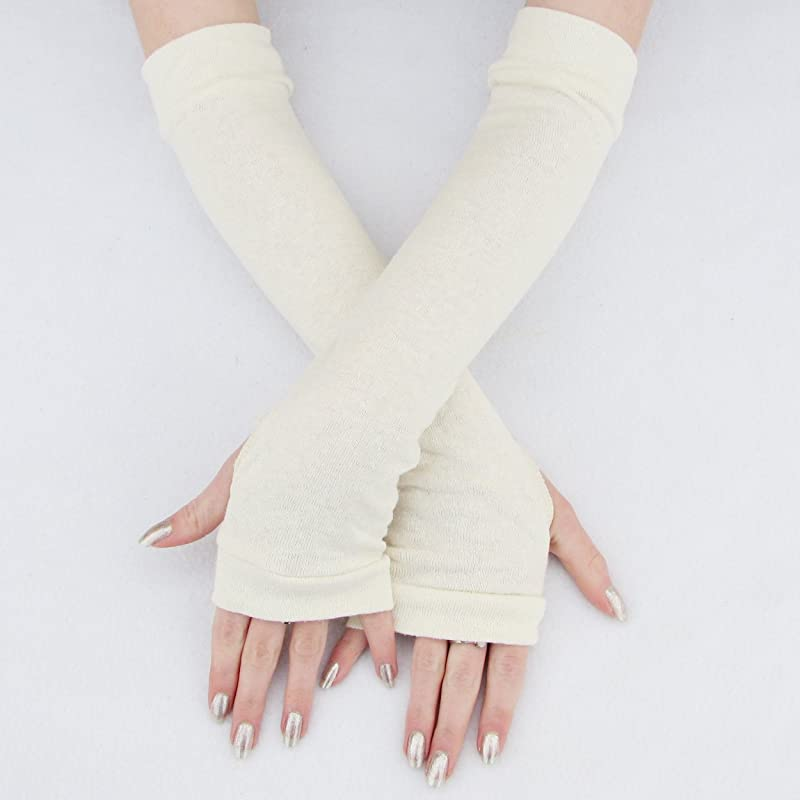 Basic Purple Arm Warmers Eco-Friendly Bamboo Gloves