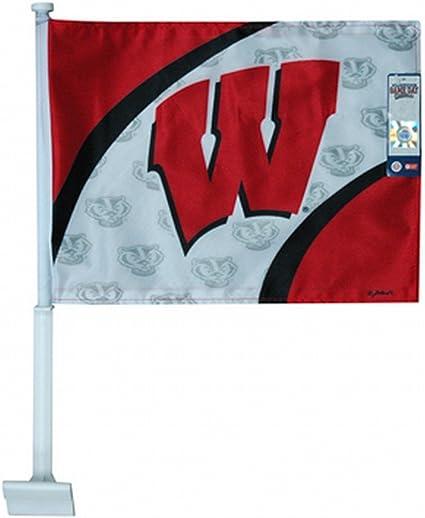 NCAA Wisconsin Badgers Car Flag