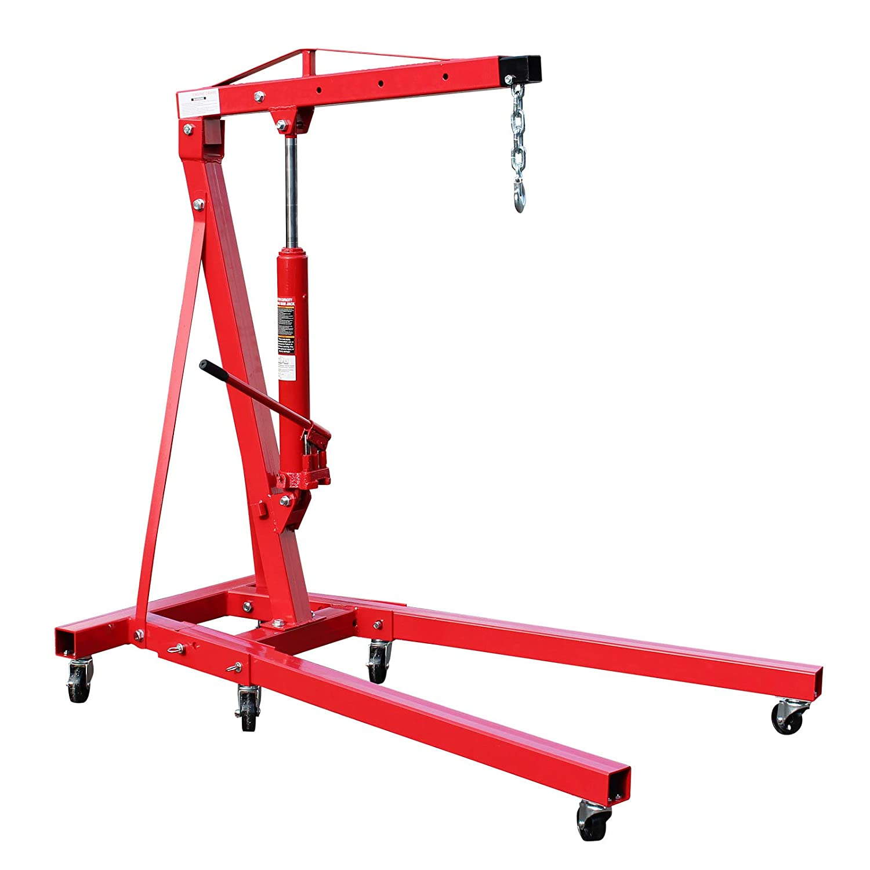 Moteur WilTec Grue datelier Pliable jusqu/à 1000 kg pour Atelier Jardin et Bien Plus Encore.