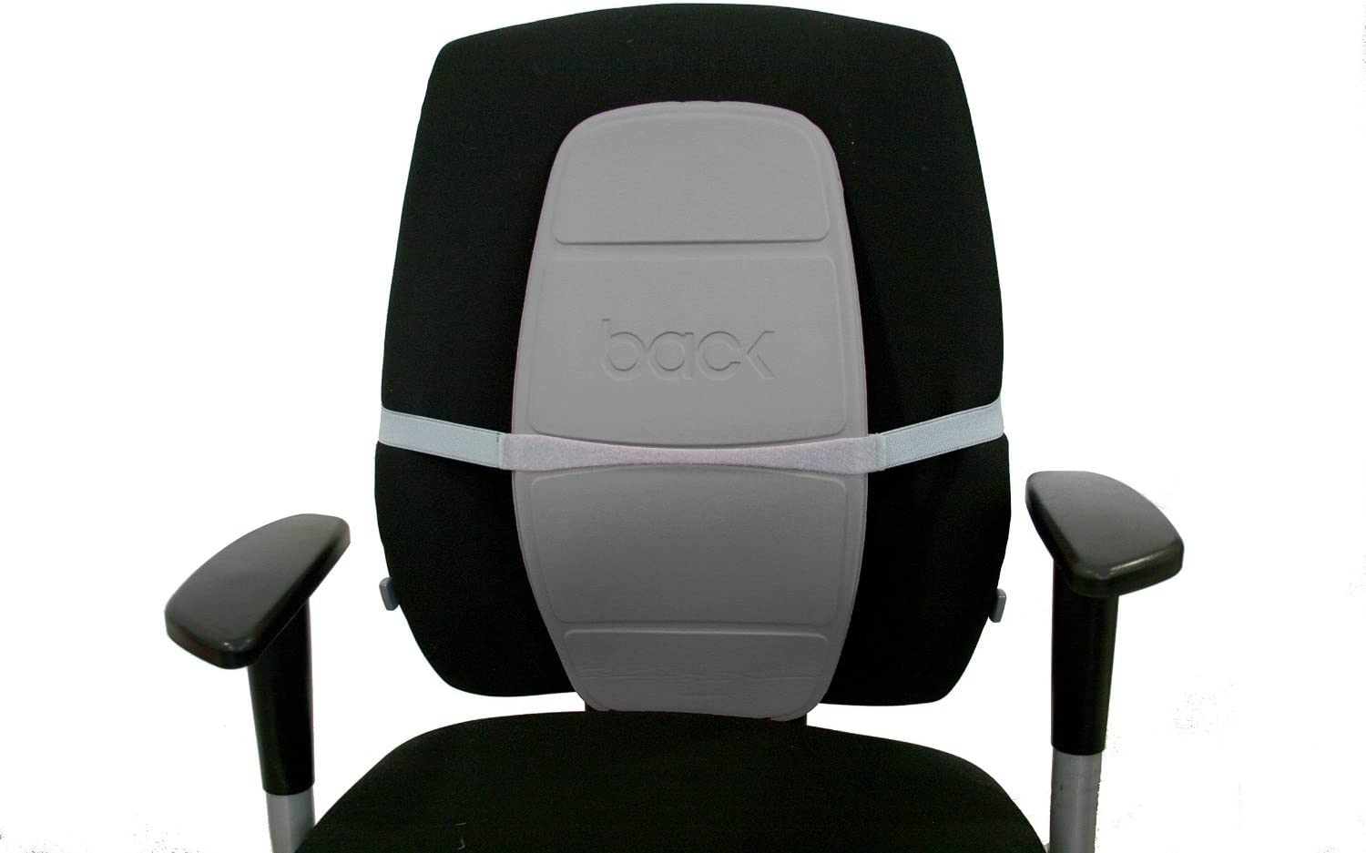 Back Backboard – Adjustable Chair Lumbar Support Relieves Back Pain, Improves Posture Ideal for Car use, Comfortable for All Types of Chairs Silver
