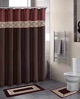 home dynamix db15d246 designer bath polyester 15piece bathroom set rust