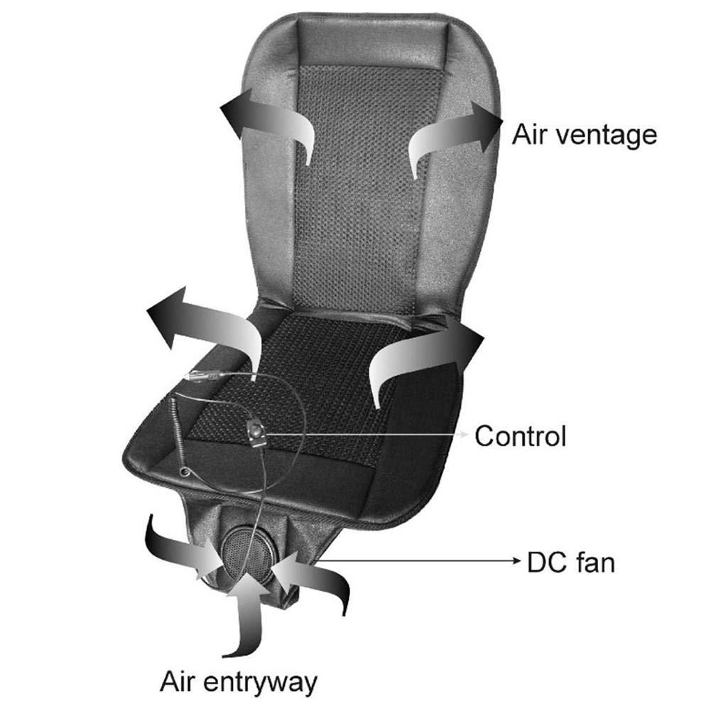 12V K/ühlung Autositz Kissenbezug//Bel/üfteter L/üfter//Conditioned Cooler Pad Feuchtigkeitstransport /& neu entwickeltes atmungsaktives Mesh fllyingu Auto Klimaanlage Kissen