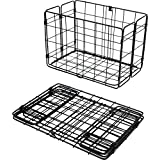 Wald 582 Rear Folding Bicycle Basket, 12.75 x 7.25 x 8.5, Black