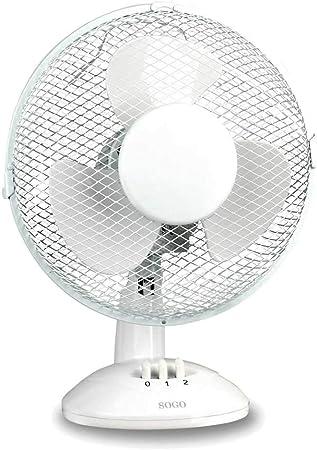 Sogo VEN-SS-21405 Ventilador de sobremesa, 23 cm, 25 W, Blanco ...