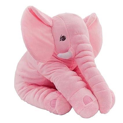CTlite - Almohada de Peluche con Forma de Elefante para bebé, niña, niño, recién Nacido, Rosa, 60 cm