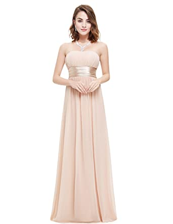 bbd18eb3d21 Ever-Pretty Women s Strapless Ruched Bust Chiffon Long Sexy Evening ...