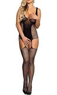 fa7d01dd1 MarysGift Fishnet Bodystocking Crotchless Tights Catsuit Bodysuit Plus Size  UK 6 8 10 12…