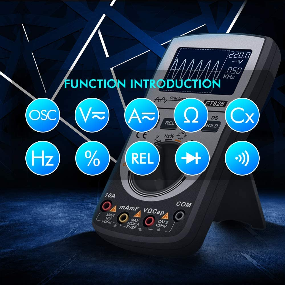 2-in-1 Intelligent Oscilloscope Multimeter DC//AC Current Voltage Resistance Frequency Diode Tester Oscilloscope Multimeter,Baugger
