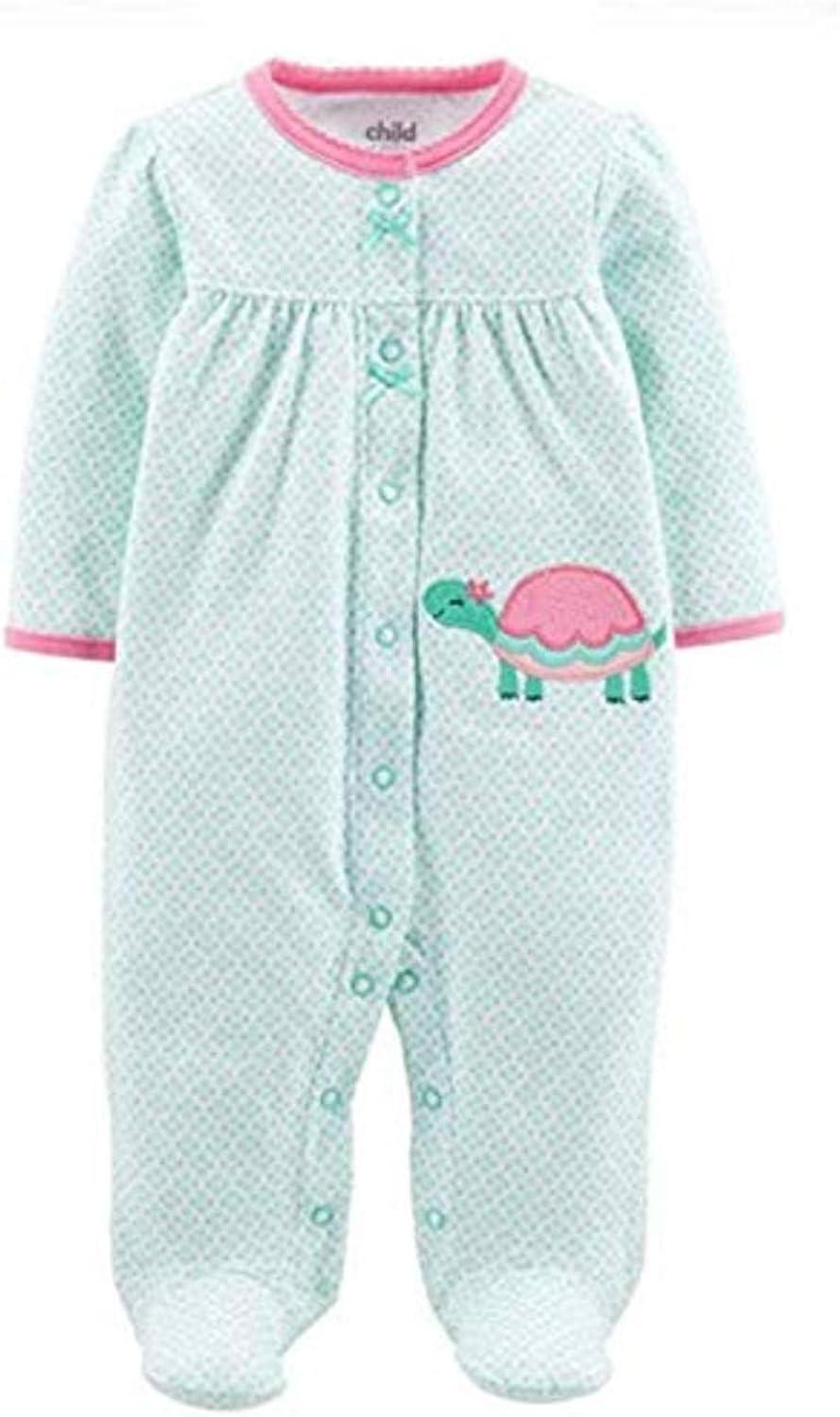 Carters Child of Mine Baby Girls Turtle Sleeper Sleep N Play Pajamas Green /…3-6 Months
