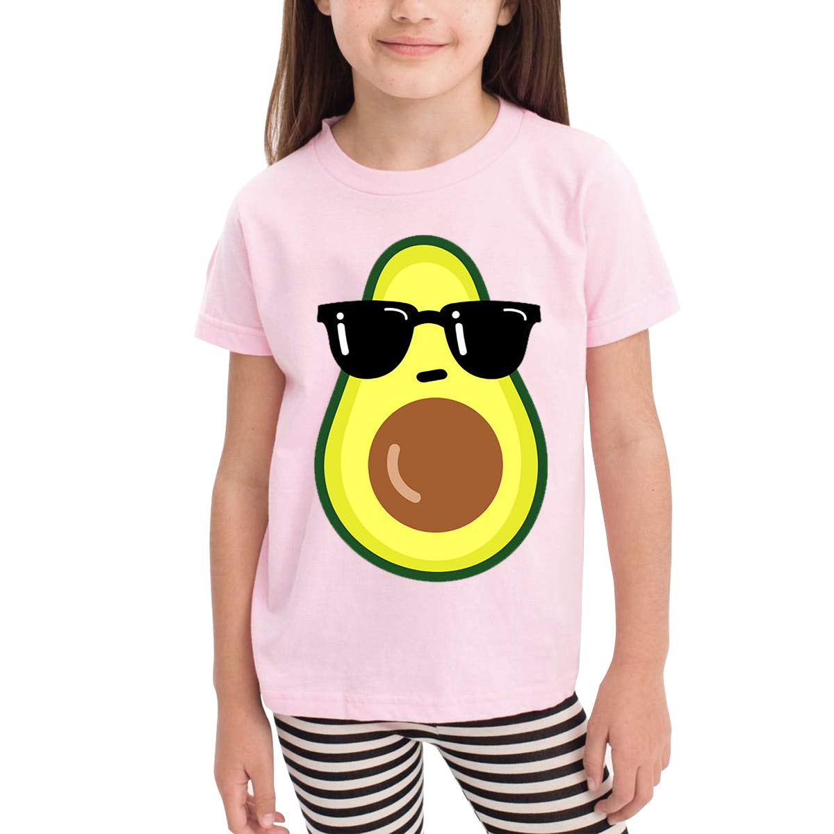 Onlybabycare Cool Avocado Pink Cotton T Shirt Lightweight Breathable Solid Tee for Toddler Boys Girls Kids