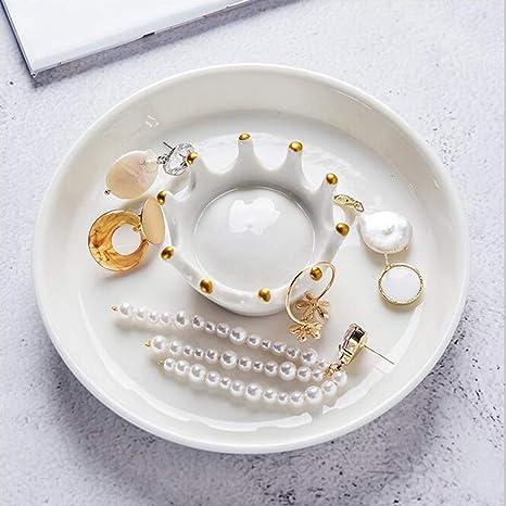 TOPBATHY 1PC Cactus Jewelry Tray,Ceramic Ring Dish,Jewelry Dish Ring Holder,Jewelry Tray for Necklaces Rings Bracelets