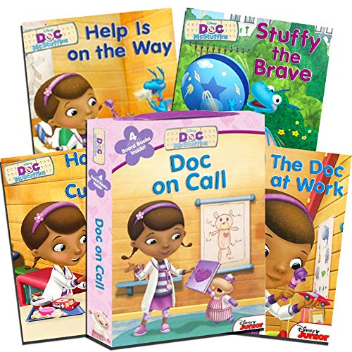 Disney Doc McStuffins My First Books for Toddlers Kids Baby (Set of 4 Shaped Disney Junior Board Books) by Bendon Publishing