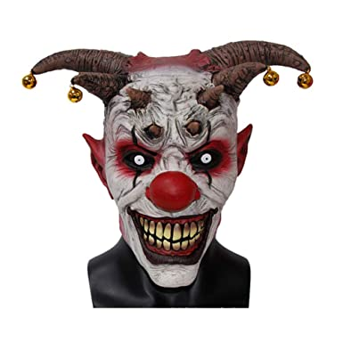 htkf us scary clown mask halloween clown latex mask horror mask creepy halloween clown