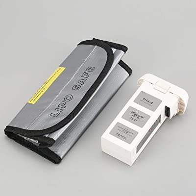 4500mAh 15.2V 4S Batería LiPo de Vuelo Inteligente con Bolsa Segura para dji Phantom 3 SE Professional Advanced RC Drone (Negro): Electrónica