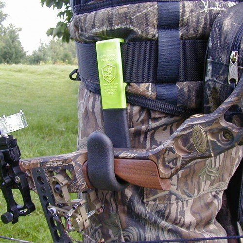 High Point Products Bow Holster for Belt; Archery Belt Bow Holder for Hunters and 3D Shooters, for Wide Grip Bows 1 to 1 3/4 Inch Wide, Attaches to Belt for Hands-Free Ground Hunting (Black) by High Point Products