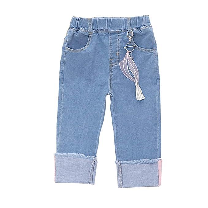Cronell Story Pantalones Vaqueros para Niñas Sección Delgada ...