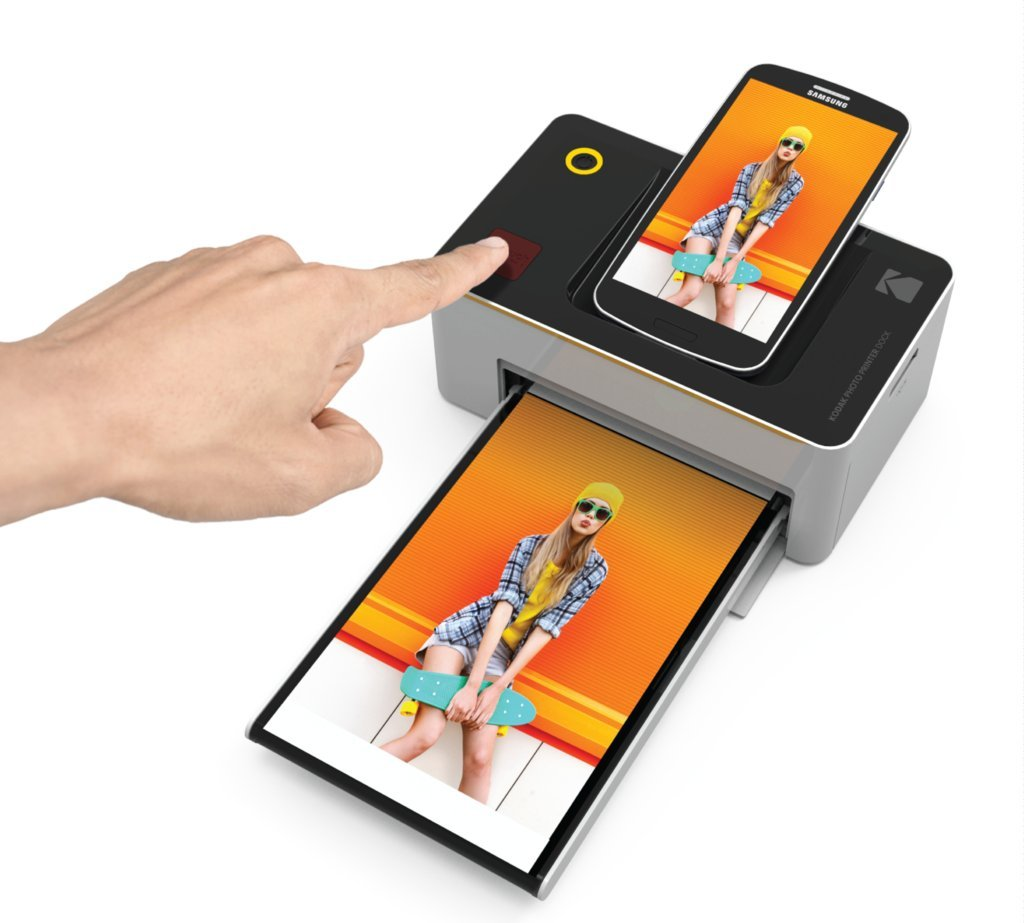 Kodak Dock Wi Fi 4x6 Photo Printer With Advanced Patent Dye Paper Kit 605 Sublimation Printing Technology Preservation Overcoat Layer For Android Ios