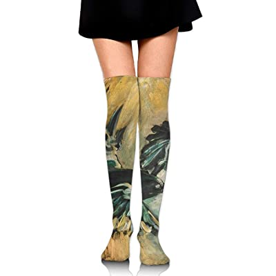 No Soy Como Tu Calcetines Altos Tow Birds Fly Paiting Casual Crew Top Socks,Tube Over Knee Nursing Compression Long Socks,3D Printed Sports For Girls&Women: Deportes y aire libre