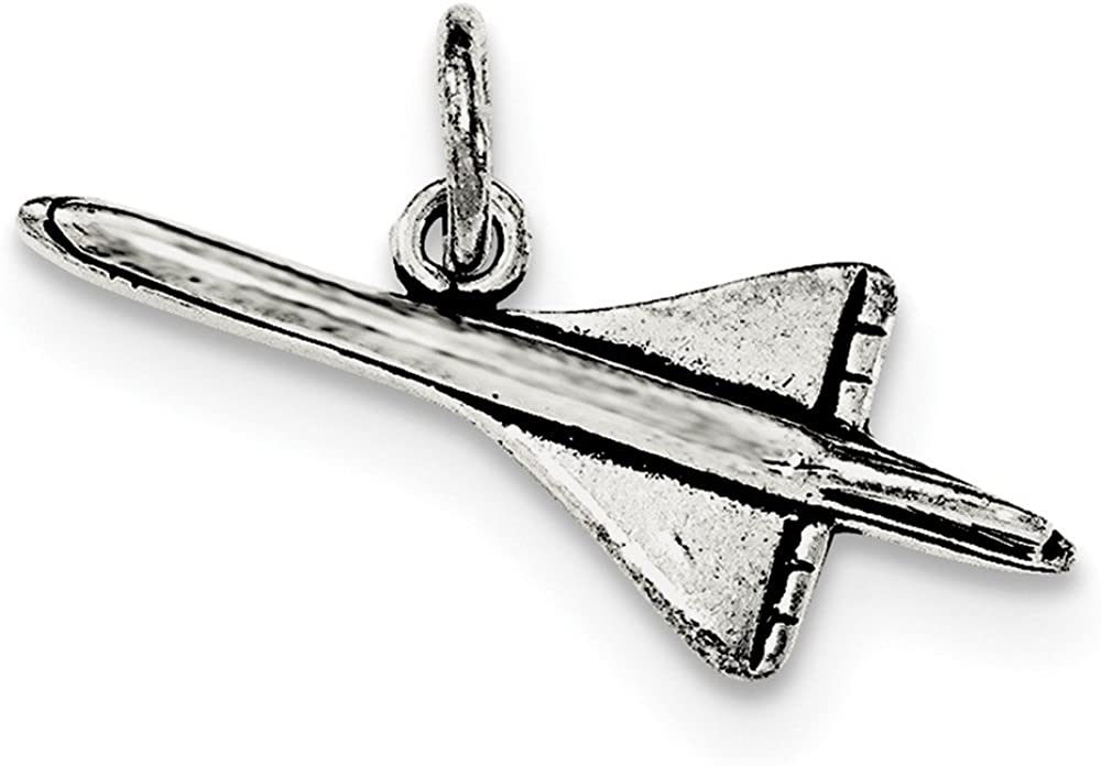 925 Sterling Silver Airplane Pendant Charm Necklace Travel Transportation Fine Jewelry For Women Gifts For Her