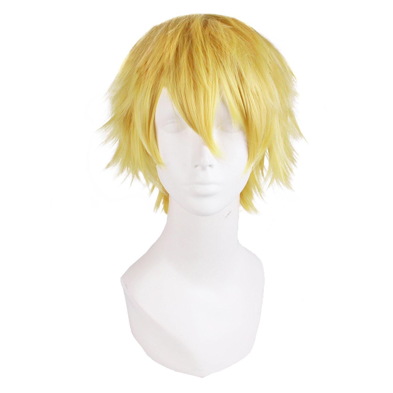 """MapofBeauty 12""""/30cm Men Male Short Cosplay Wigs (Blonde)"""