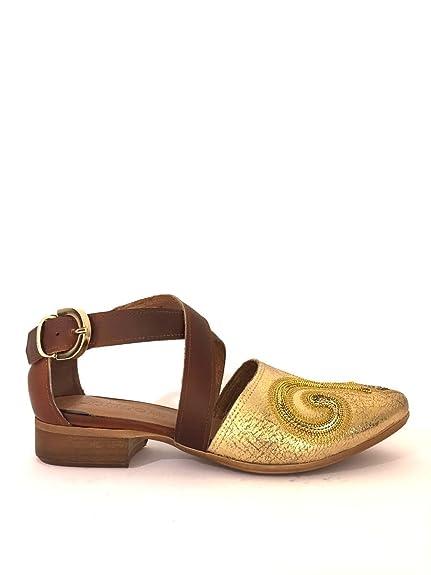 ZETA SHOES - Mocasines de Piel para Mujer * Dorado Size: 40: MainApps: Amazon.es: Zapatos y complementos