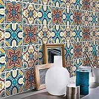 "H2MTOOL 8x8 Tile Stickers, 12PCS Removable Peel & Stick Floor Stair Decals for Kitchen Bathroom Backsplash (12, 8"" x 8"")"