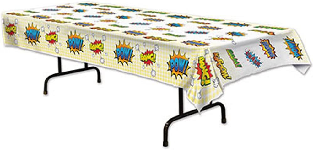 Hero Plastic Tablecover Tablecloth Comic Book Superhero Birthday Parties Events