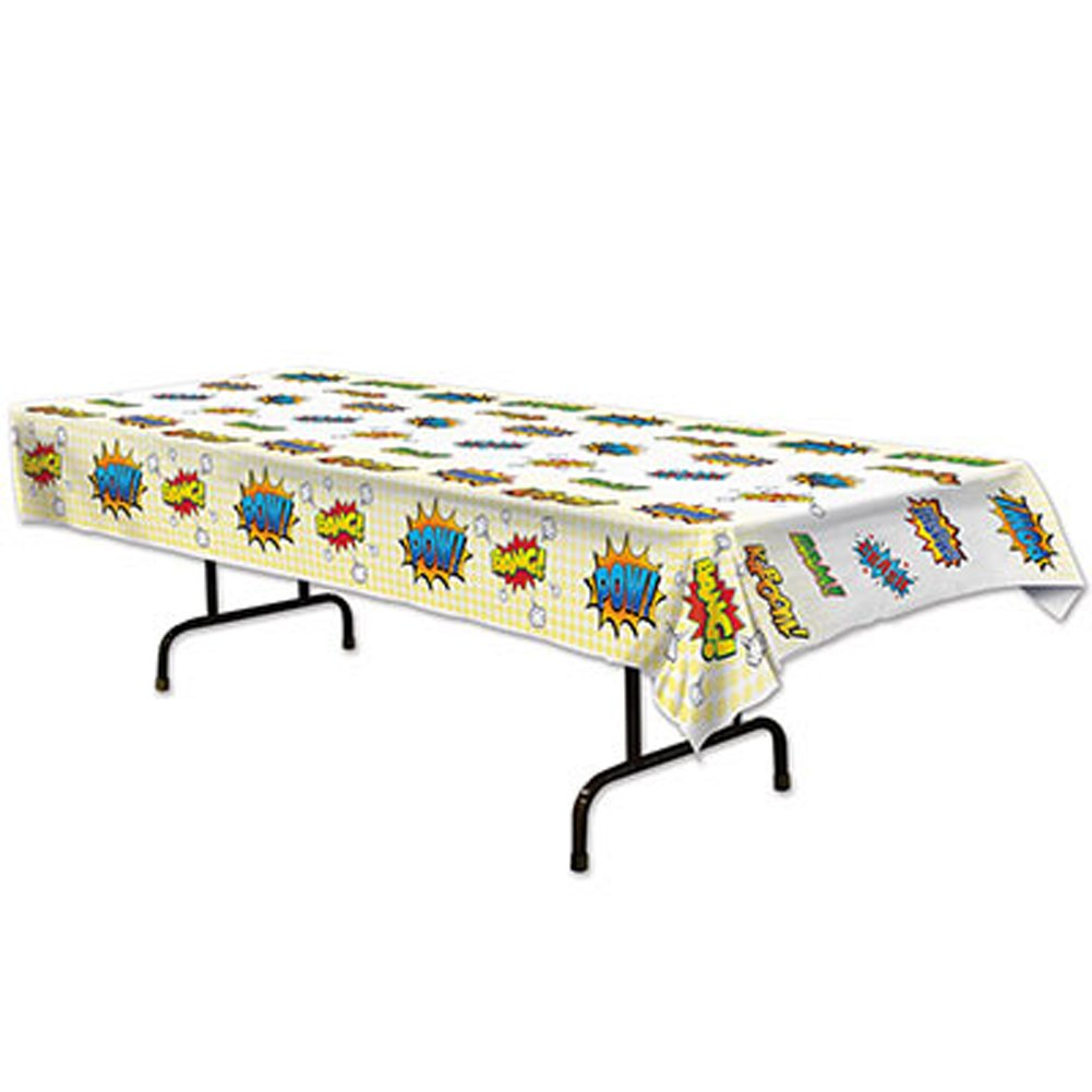 Plastic Table Cover Super Hero Party Buffet Tablecloth