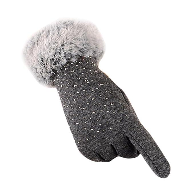 a1ccf2ce7fb3e3 Damen Warme Handschuhe mode Winter Outdoor SportFrauen MäNner Gloves Laufen  Wolle Warm Ostern Weihnachten Geburtstag Reiten