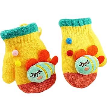 Pandaren® bébé fille garçon infantile laine super chaud fil mitaines en  tricot pour enfants 2 6bf91fe69b8