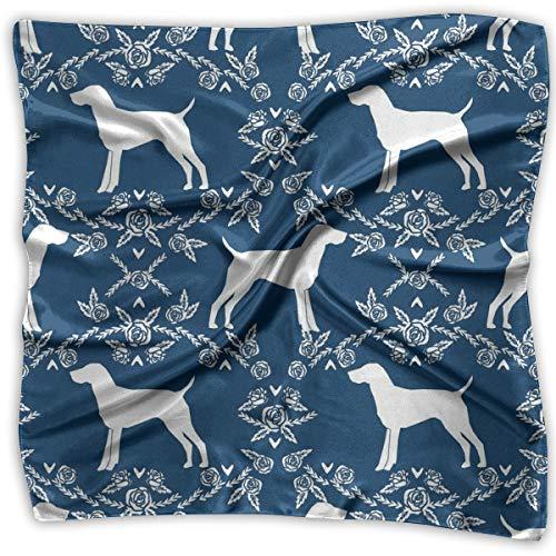 Women's Accessories Scarves & Shawl & Square - Business Silk Scarves German Shorthair Pointer Dog Graphic Print Neckerchief Female Satin Hair Scarf Wrap Headscarf Ties ()