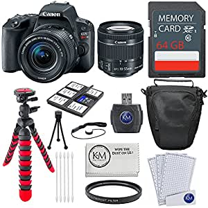 Canon EOS Rebel SL2 DSLR Camera w/ 18-55mm Lens + 64GB Card + Basic Photo Accessory Bundle