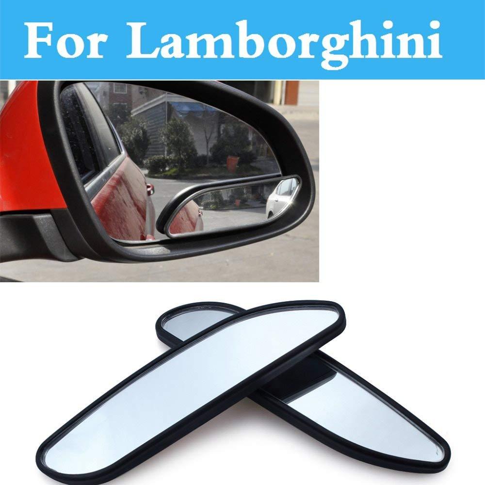 Pukido Adjustable Blind Spot Mirror 363 Convex Wide Angle for Lamborghini Elemento Veneno Murcielago Reventon Sesto Aventador Gallardo