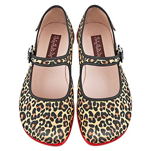 Hot Chocolate Design Chocolaticas Leopard Bailarina Mary Jane para Mujeres Varios colores
