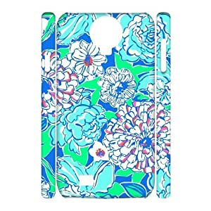 Blue Flowers DIY 3D Cover Case for SamSung Galaxy S4 I9500,personalized phone case ygtg612965