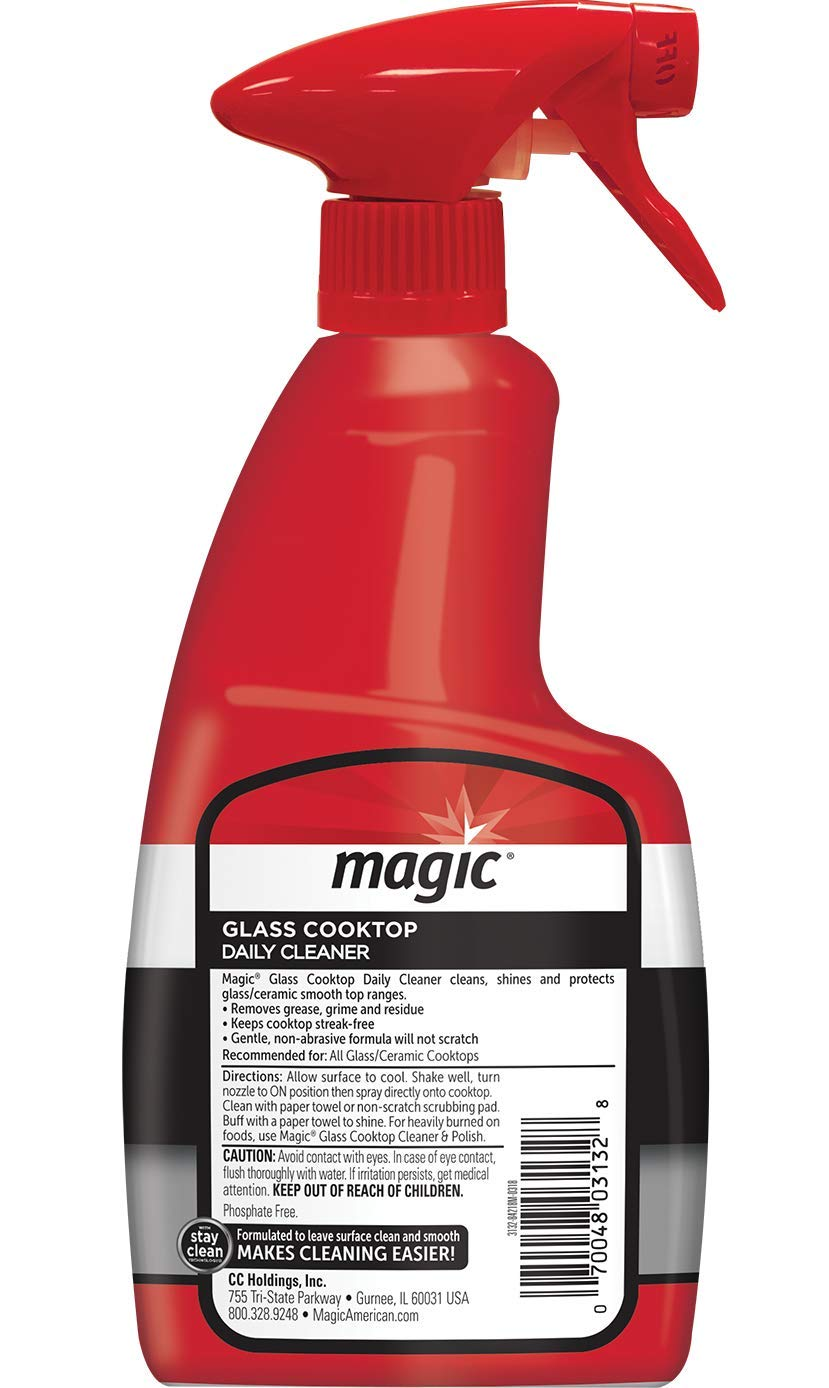 MAGIC Glass Cooktop Cream Cleaner & Polish - 16 oz. and Daily Cleaner - 14 Ounce - Cleans and Protects Glass and Ceramic Smooth Top Ranges with its Gentle Formula by MAGIC (Image #8)