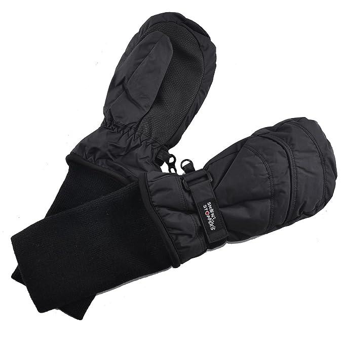 f69e0a187 Amazon.com  SnowStoppers Kids Waterproof Stay On Winter Nylon Mitten ...