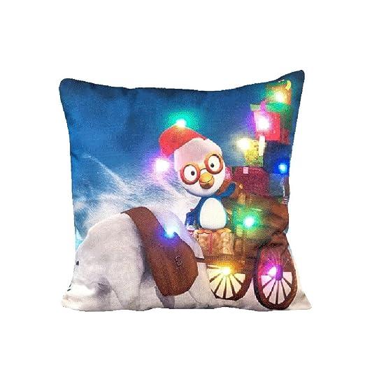 Home Decoración loveso LED cojín almohada Merry Christmas ...
