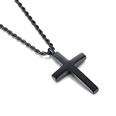 Molike jewelry mens womens stainless steel cross pendant necklace molike jewelry mens womens stainless steel cross pendant necklace twist rope chain 20 22 aloadofball Images